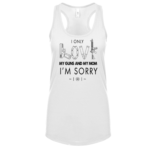 Love My Guns & My Mom Women's Tank