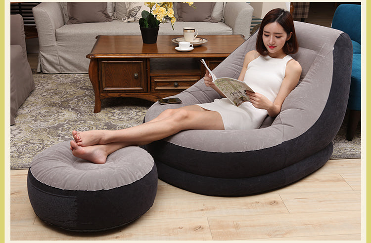 Faux Suede Inflatable Lazy Chair