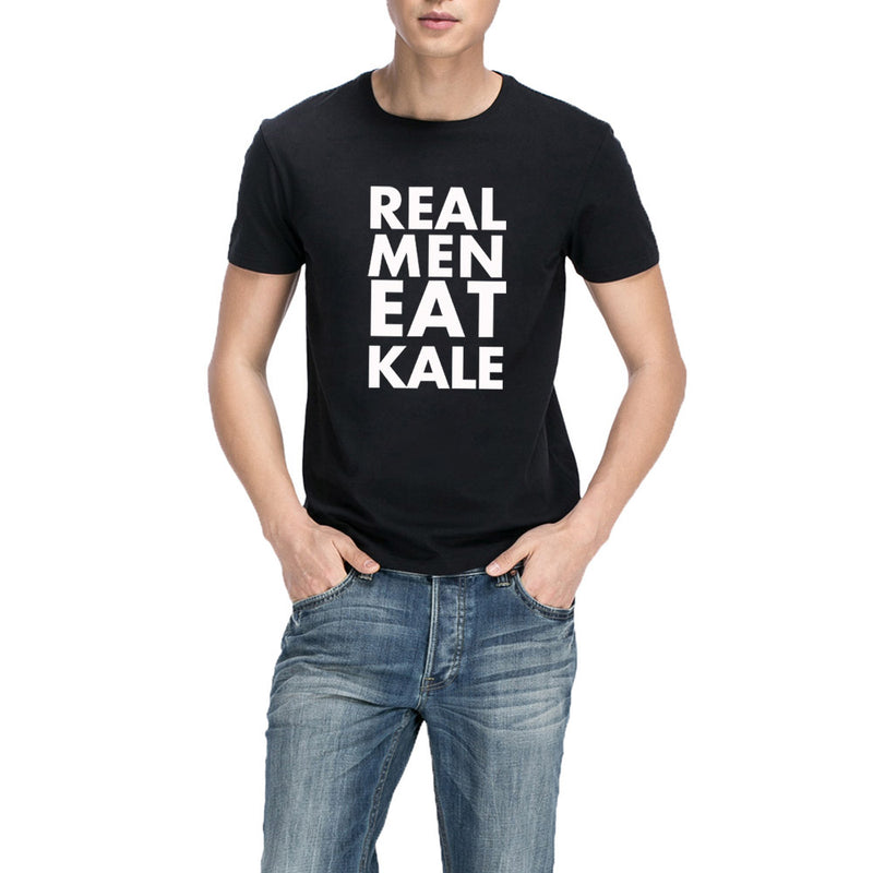 """Real Men Eat Kale"" Vegan T-Shirt"