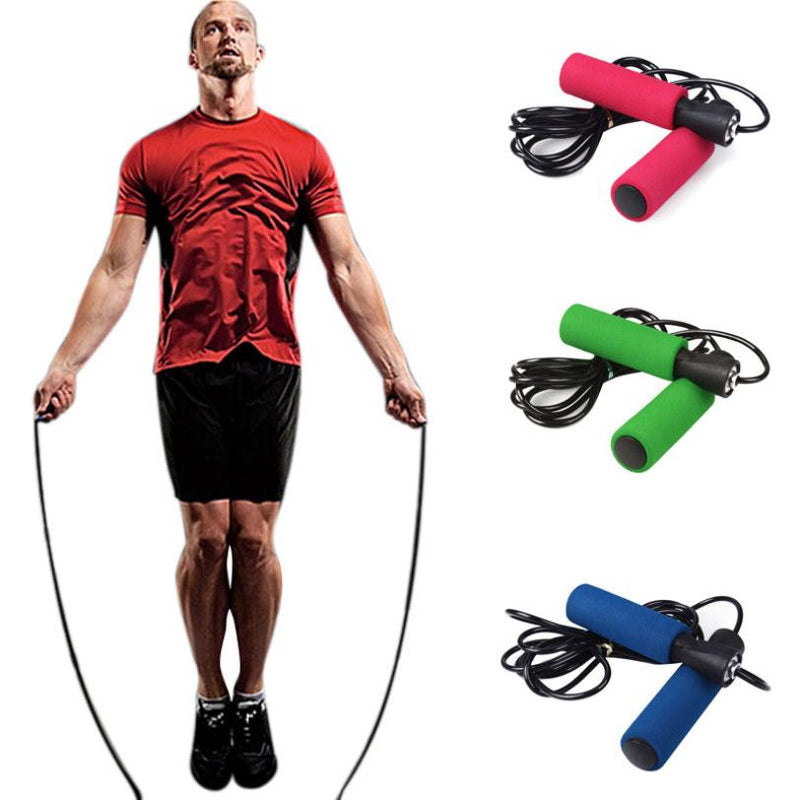 2.5m PVC cord Aerobic Exercise Skipping Jump Rope Adjustable Bearing Speed Fitness Gifts#