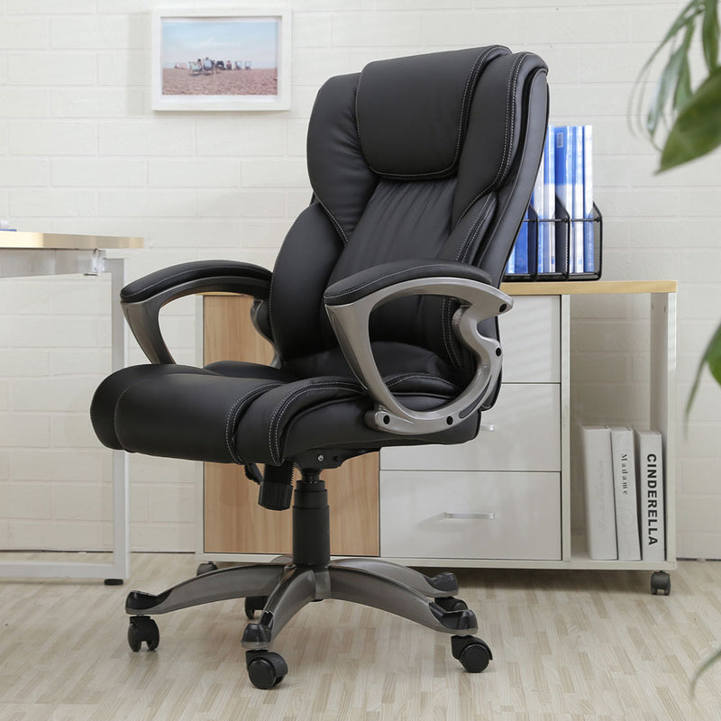 Faux Leather Executive Swivel Chair