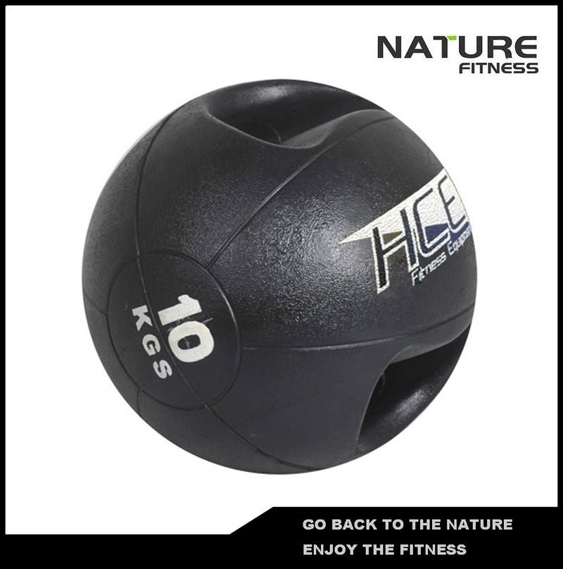 10kgs Double Grip Handles Medicine Ball /Core Ball For Strength Training