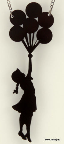 Banksy Girl With Balloons Necklace - MissJ Designs
