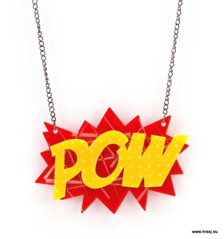 POW Pop Art Necklace