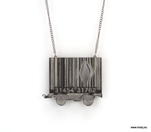 Banksy Barcode Container Carriage Necklace - MissJ Designs