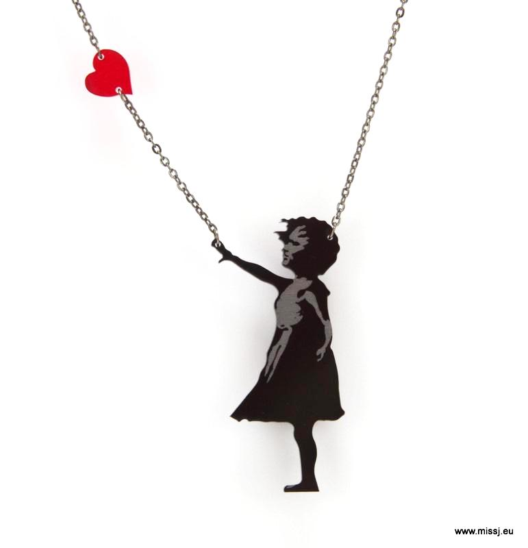 Banksy Girl with Floating Heart