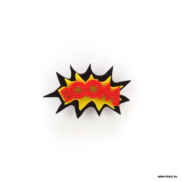 BOOM Pop Art Brooch - MissJ Designs