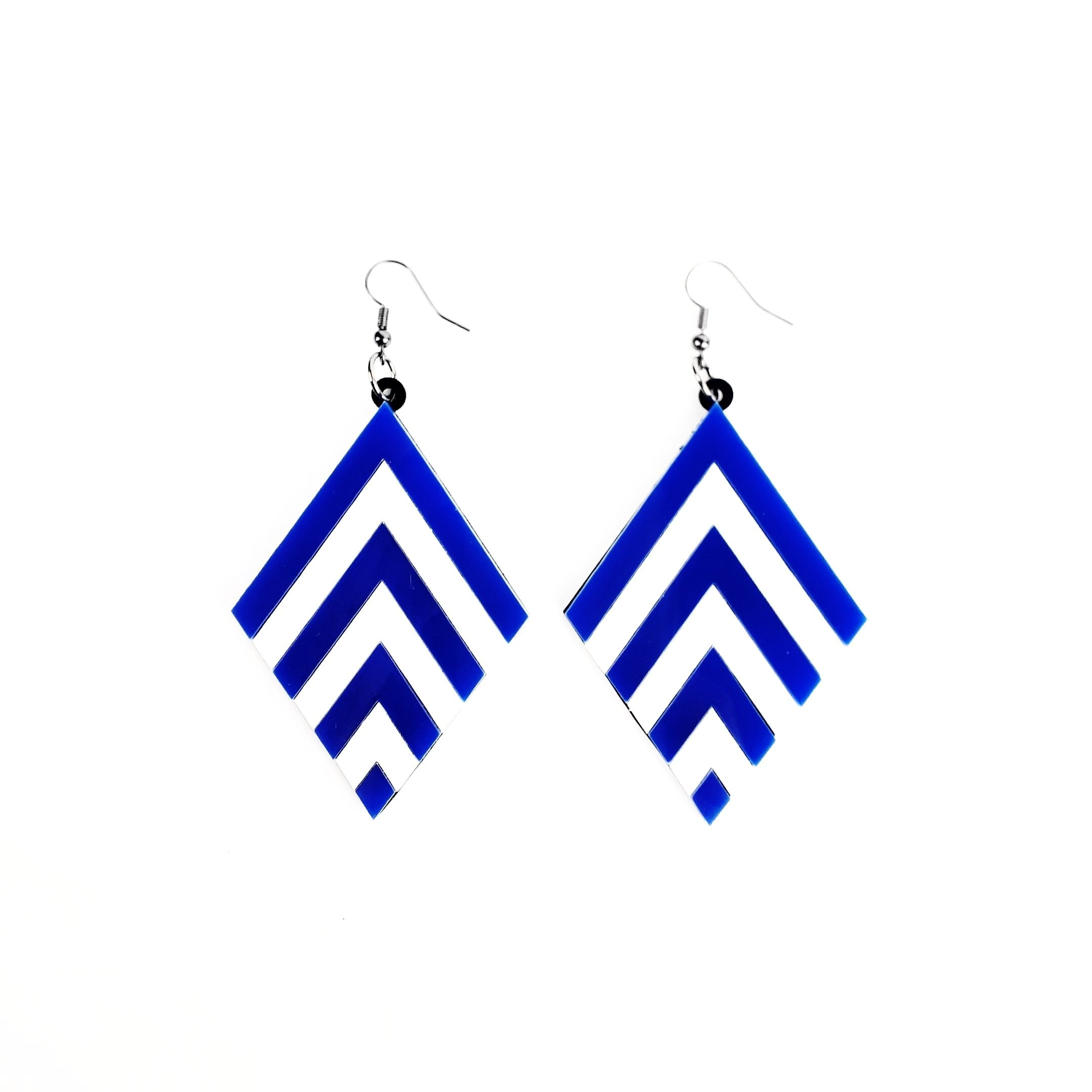 Blue Chevron earrings