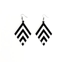 Black Chevron earrings - MissJ Designs