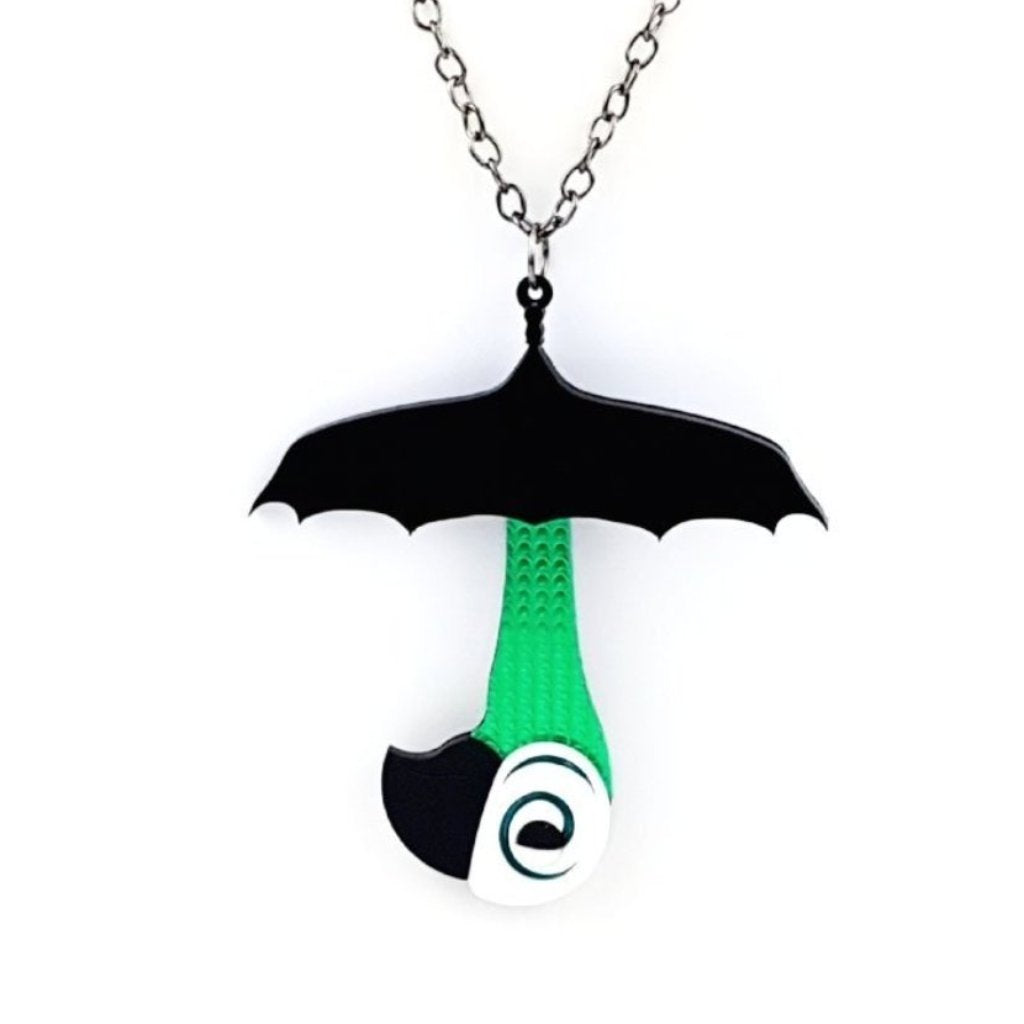 Mary Poppins umbrella necklace  with parrot handle - MissJ Designs