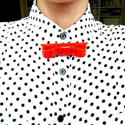 Mary Poppins Red Bow Tie - MissJ Designs