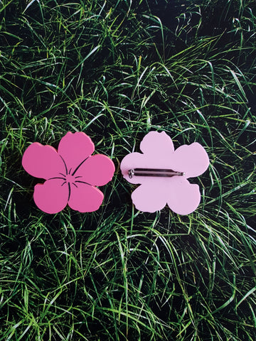 Andy Warhol Flowers brooch - MissJ Designs