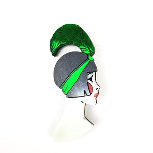 Art Deco Lizzie Brooch Green by www.missj.eu