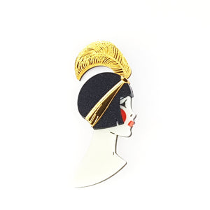 Art Deco Lizzie Brooch Gold by www.missj.eu