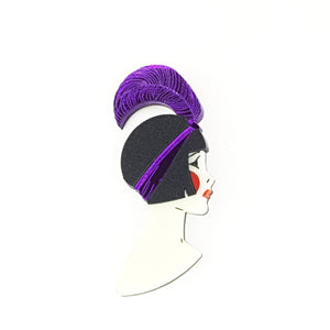 Art Deco Lizzie Brooch Purple by www.missj.eu