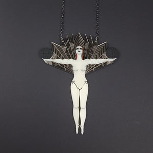 Art Deco Cabaret Dancer Limited Edition Full Body Necklace