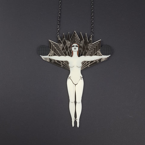 Art Deco Cabaret Dancer Limited Edition Full Body Necklace - MissJ Designs