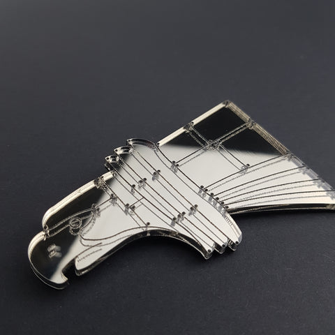 Chrysler Building Hawk Brooch - MissJ Designs