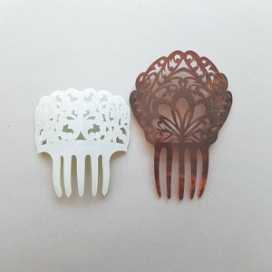 Small Mantilla Hair Comb in Mother of Pearl - MissJ Designs
