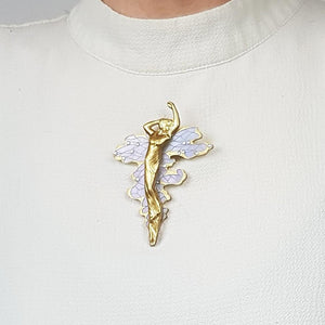 Water Bearer Art Nouveau 3D Printed Brooch - MissJ Designs