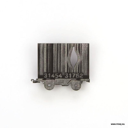 Banksy Barcode Container Carriage Brooch
