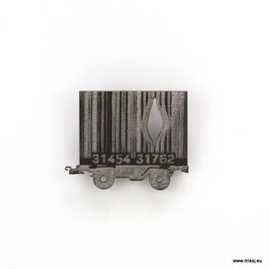 Banksy Barcode Container Carriage Brooch - MissJ Designs