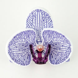 3d Orchid Brooch Solid Acrylic Purple - MissJ Designs