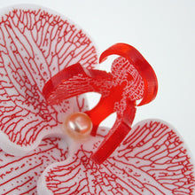 3d Orchid Brooch Solid Acrylic Red - MissJ Designs