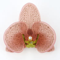 Blush Pink with Gold Limited Edition Orchid Brooch - MissJ Designs