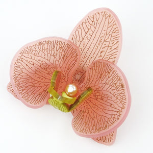 Blush Pink with Gold Limited Edition Orchid Brooch