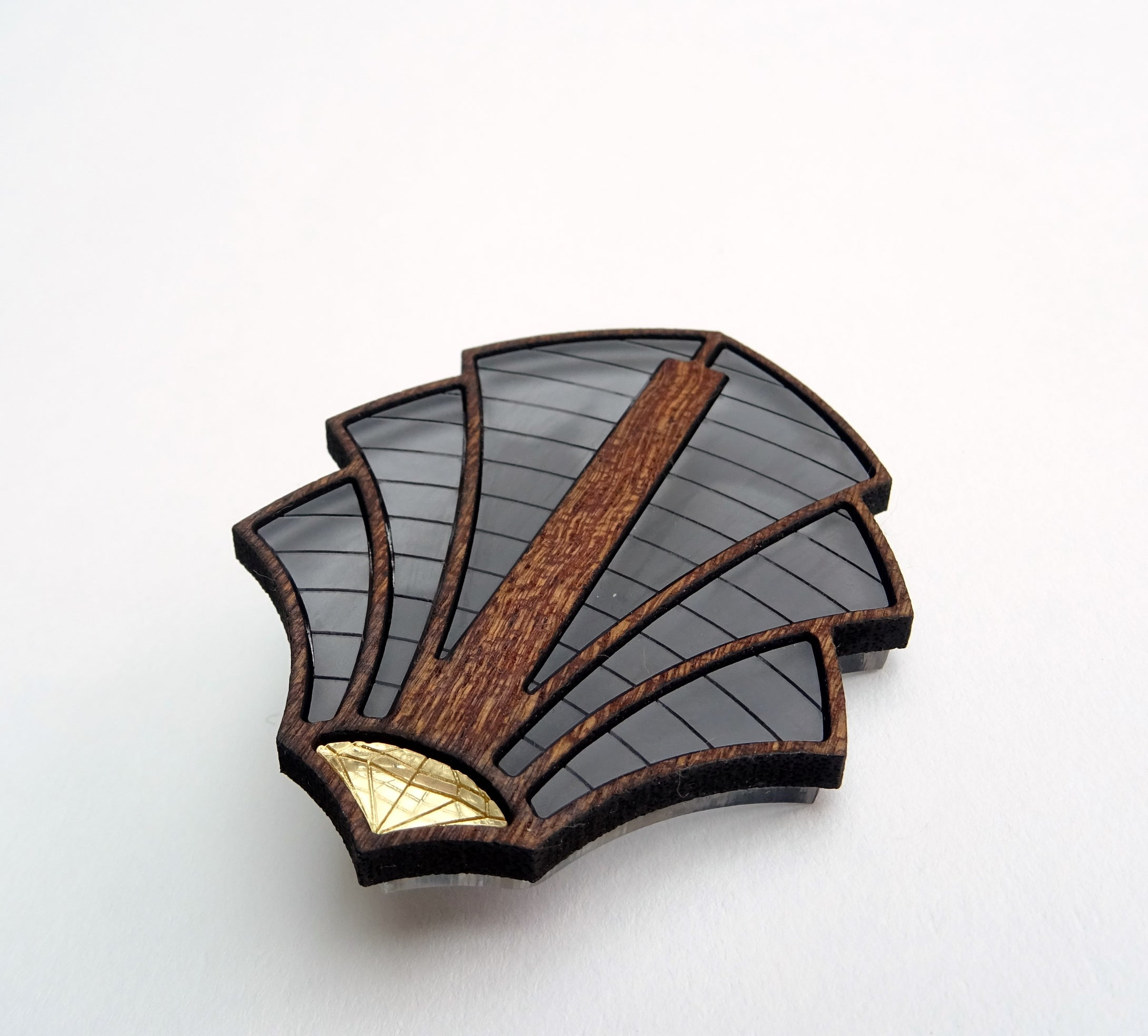 Palm Art Deco Brooch