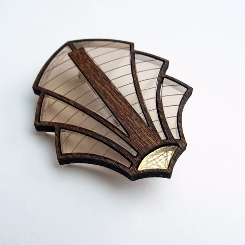 Palm Art Deco Brooch - MissJ Designs