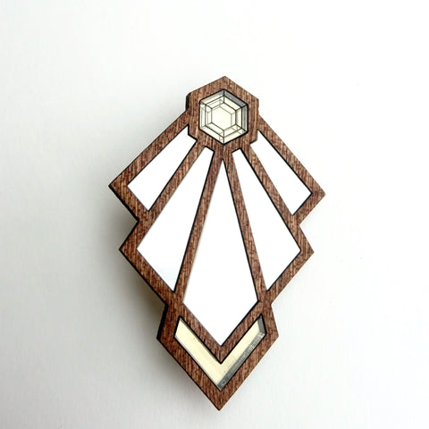 Tulip Art Deco Brooch - MissJ Designs
