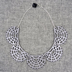 Victorian Necklace Grey