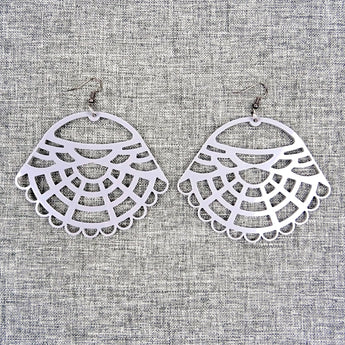 Victorian Earrings Grey