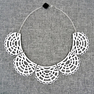 Victorian Necklace White - MissJ Designs