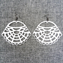 Victorian Earrings White