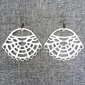 Victorian Earrings White - MissJ Designs