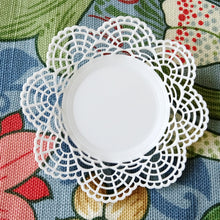 Victorian Plate Brooch White