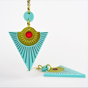 Osiris Rising Sun Earrings - MissJ Designs