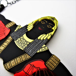 Winged Goddess of Hathor Necklace - MissJ Designs