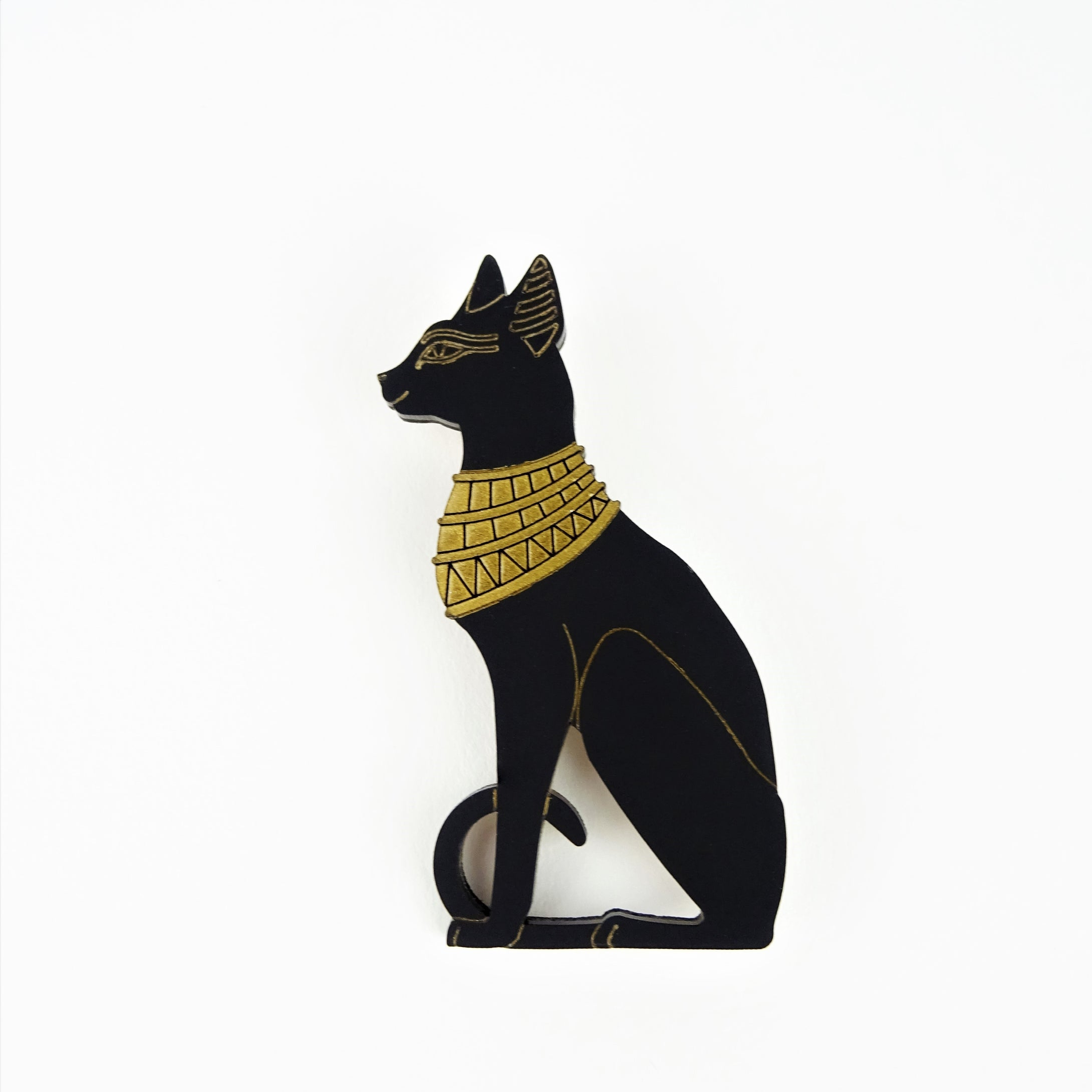 Egyptian Cat Goddess Brooch
