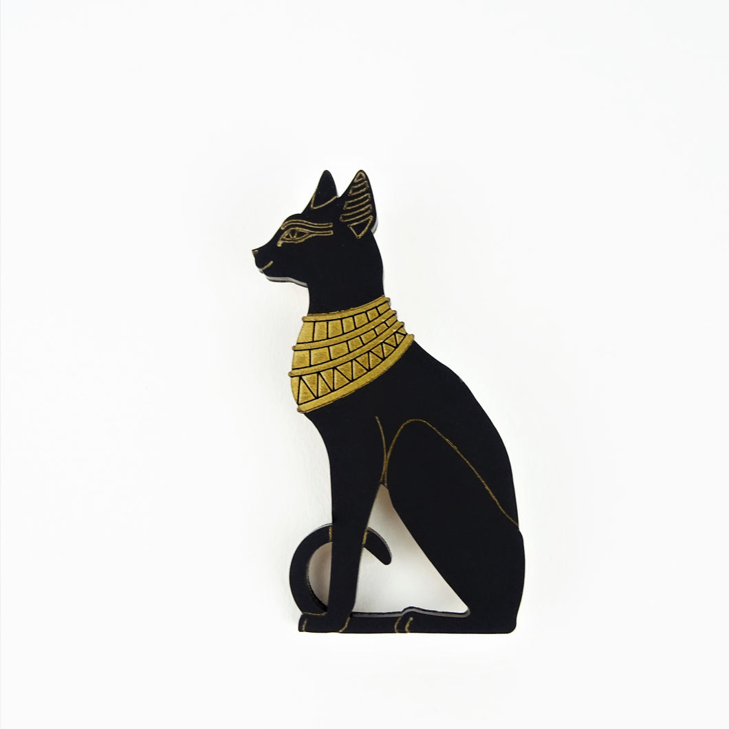 Egyptian Cat Goddess Brooch - MissJ Designs