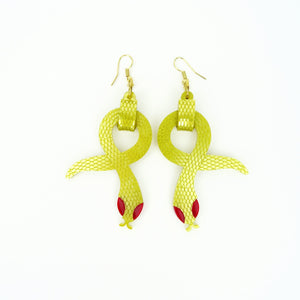 Golden Asp Earrings - MissJ Designs