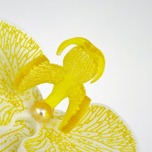 3d Orchid Brooch Solid Acrylic Yellow - MissJ Designs