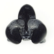Halloween Special Black 3d Orchid Brooch with Black Pearl LIMITED EDITION - MissJ Designs