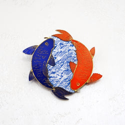 Koi Fish Brooch - MissJ Designs
