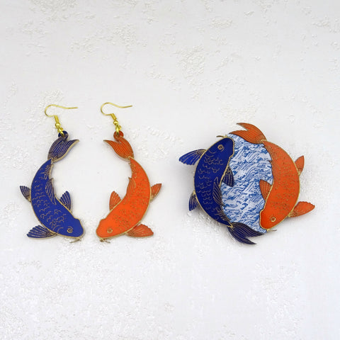 Japanese Koi Earrings - MissJ Designs