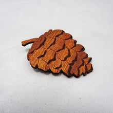 Autumn Pine Cone Brooch