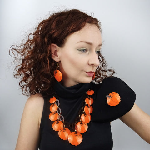 Pumpkin Brooch - MissJ Designs